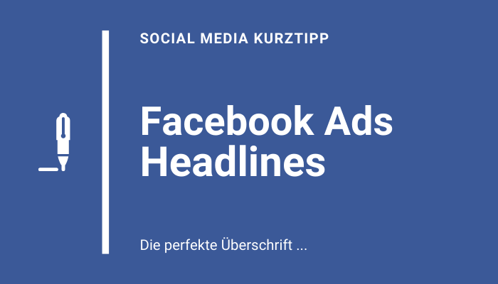 Facebook Ads Überschrift