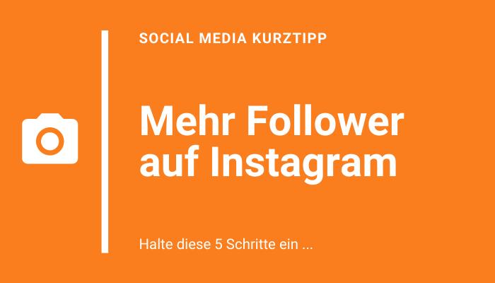 Follower Wachstum auf Instagram